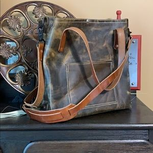 Hand crafted leather bag crossbody/hobo